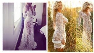 Покупки с Алиэкспресс Красивое прозрачное кружевное платье