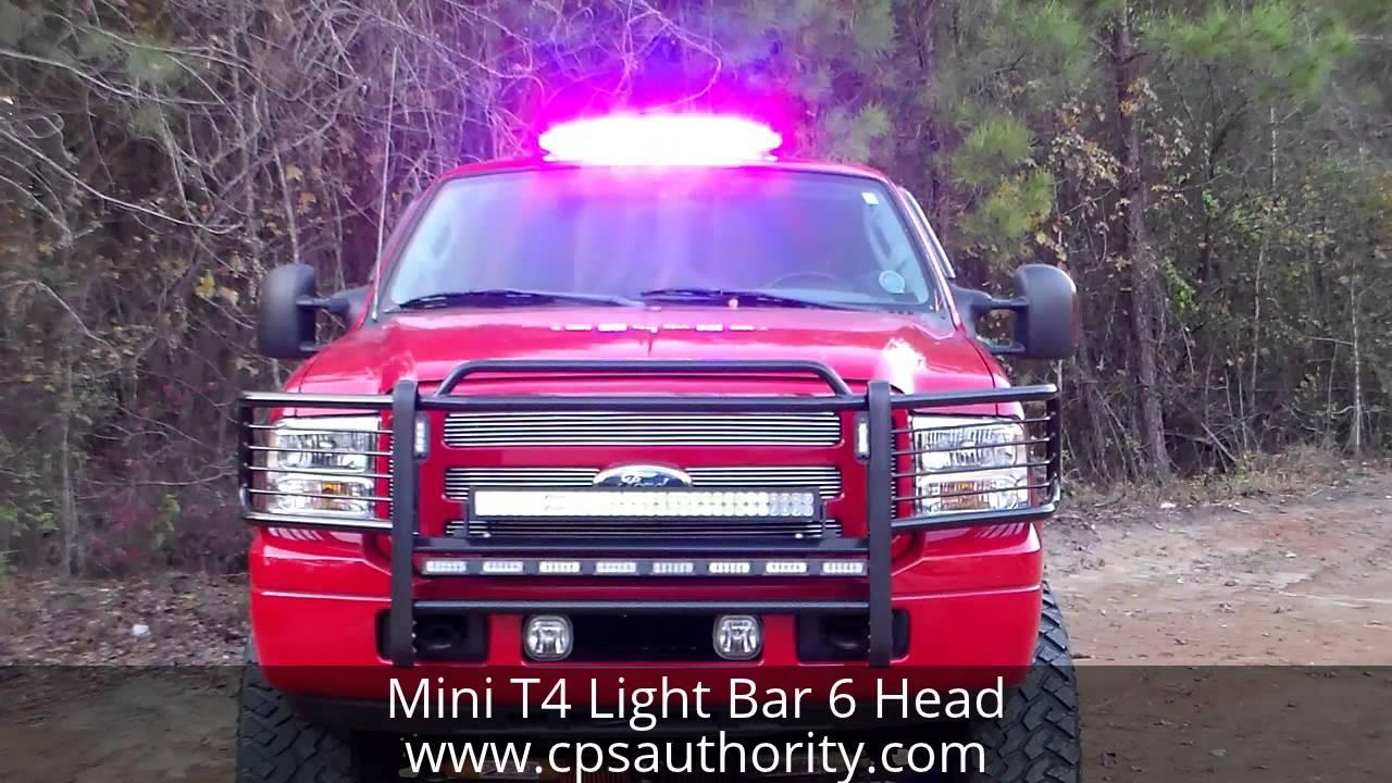 Mini T4 Led Light Bar Cps Authority Emergency Vehicle And