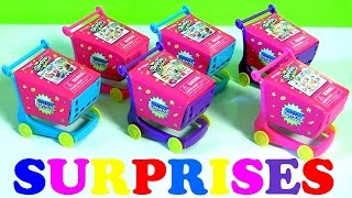 SHOPKINS Shopping Carts Surprise Disney Princess Sofia the First Peppa Pig Disneycollector Kids Toys