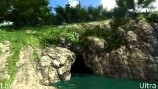 Far Cry 3 - Splitscreen Graphics Comparison Low vs Ultra high HD