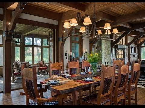 Rustic Lodge Dining Room - YouTube