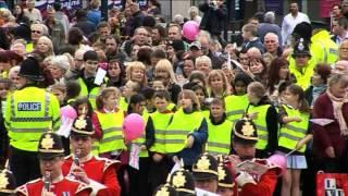 The Duke of Lancaster's Regiment marches through Ashton-Under-Lyne 22/05/13