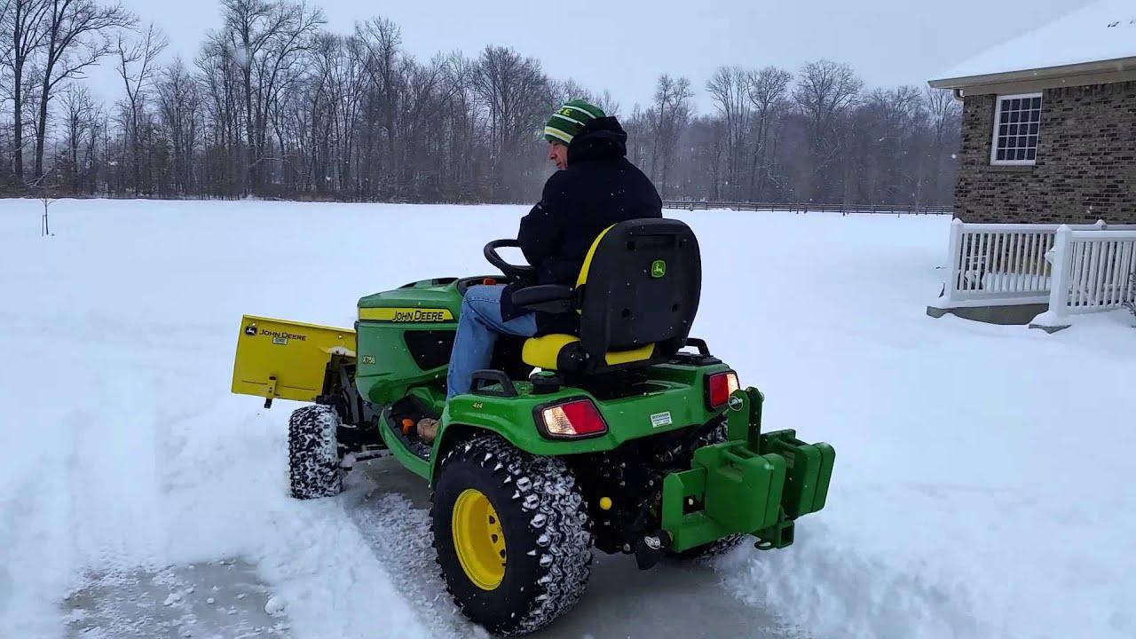 John Deere Snow Plow : John deere plowing snow funnycat tv