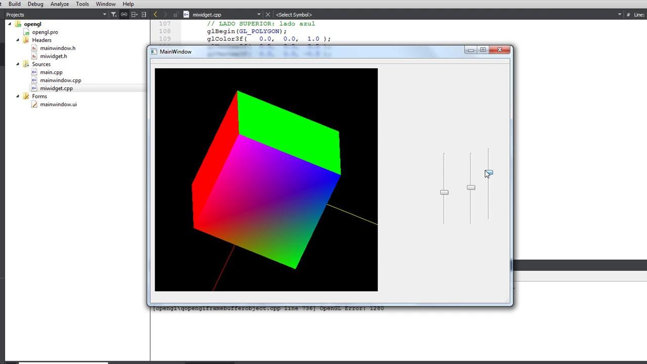 Qt C++ OpenGL