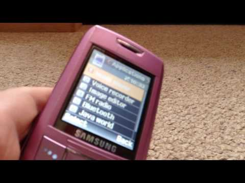 Samsung sgh e250 part 2