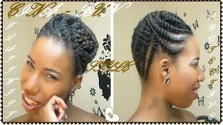 Flat Twist Protective Style / CINA-BUN / Short / Medium Natural Hair /