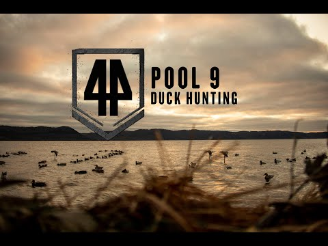 December Duck Hunting On Pool 9 Of The Mississippi River In Wisconsin Drone