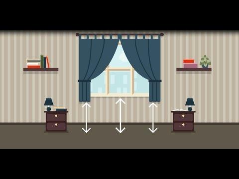 Как определить размер штор на окно