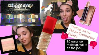Testing out a 5 Below eyeshadow palette and clearance makeup || Will it do the job! ||
