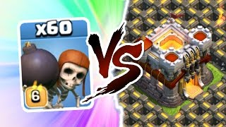 """Clash Of Clans - EPIC """"60 WALL BREAKERS vs TOWN HALL 11!!!"""" - 100,000 GEM CHALLENGE!"""