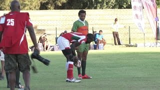 Cheeky Collins Injera scores a try after TEASING Zimbabwe defence!
