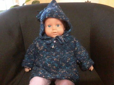 diy tuto tricot bebe pull capuche au point mousse facile youtube. Black Bedroom Furniture Sets. Home Design Ideas