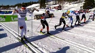 Men's Sprint (C) Final - SM 2018 Skellefteå - Calle Halfvarsson wins after a BRUTAL finish