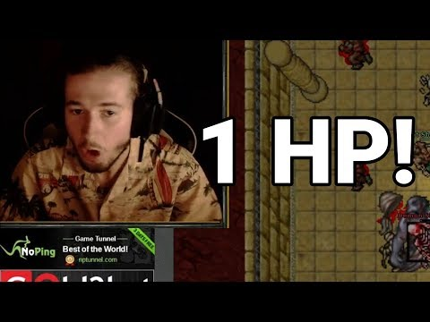1 HP! - Tibia on Twitch #week14