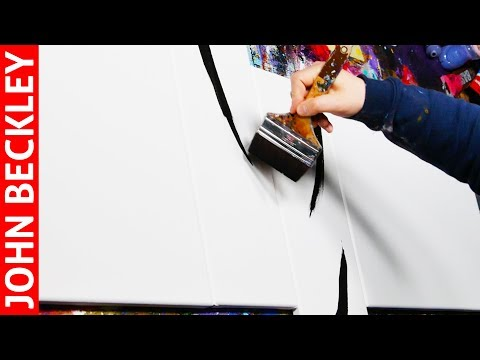 Abstract Art Painting Demonstration With Acrylics    Asper