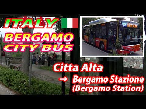 Nice Viewing ITALY BERGAMO CITY BUS Citta Alta → Bergamo Stazione (Bergamo Station)
