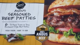 Sams Choice Angus Seasoned Beef Patties Hamburgers Nexgrill Deluxe 6 Burner Propane Gas Grill