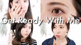 Get Ready With Me♡起きてからの身支度♡スキンケア、メイク、ヘア、コーデ【モーニングルーティン】 thumbnail