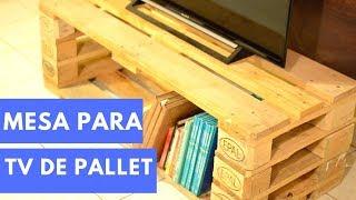 COMO HACER UNA MESA PARA TV DE PALET | Empo | EP. 19