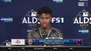 Francisco Lindor postgame press conference | Indians vs. Yankees | 2017 ALDS GAME 2