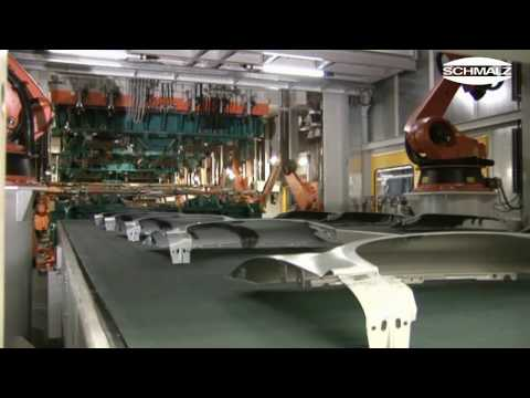 Vacuum Suction Pads - Handling of Metal Sheets in a Press Shop | Schmalz