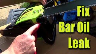 Fixing Poulan Chainsaw Bar Oil Leak - Gurubrew CRF