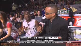 [HD] Kevin Hart NBA Celebrity all star weekend Houston 2013 Back2Back MVP _ Hilarious LOL