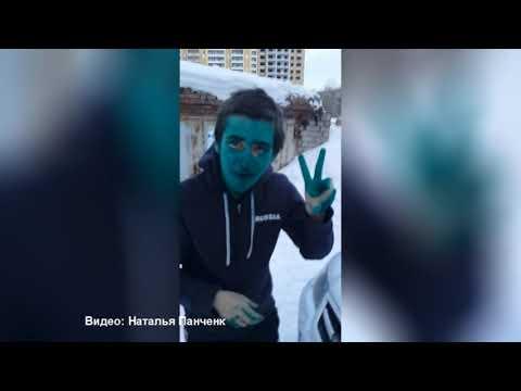 В Тюмени таксист заставил пассажира измазать лицо зеленкой
