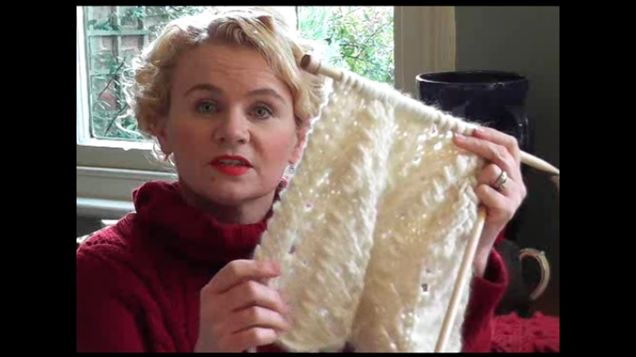 CHUNKY LACE SCARF KNITTING TUTORIAL - Free Lace Scarf Knitting ...
