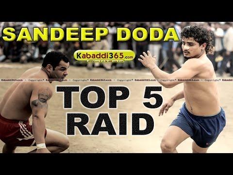 Top 5 Raid Sandeep Doda at Kabaddi...