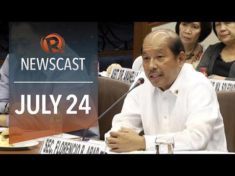 Rappler Newscast: Abad defends DAP, Taiwan plane crash, Algerian plane missing