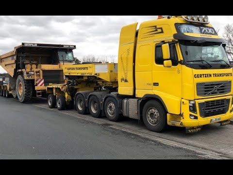 CAT 775D QUARRY TRUCK X VOLVO FH16 700 XL I CONVOI EXCEPTIONNEL I HEAVY HAULAGE