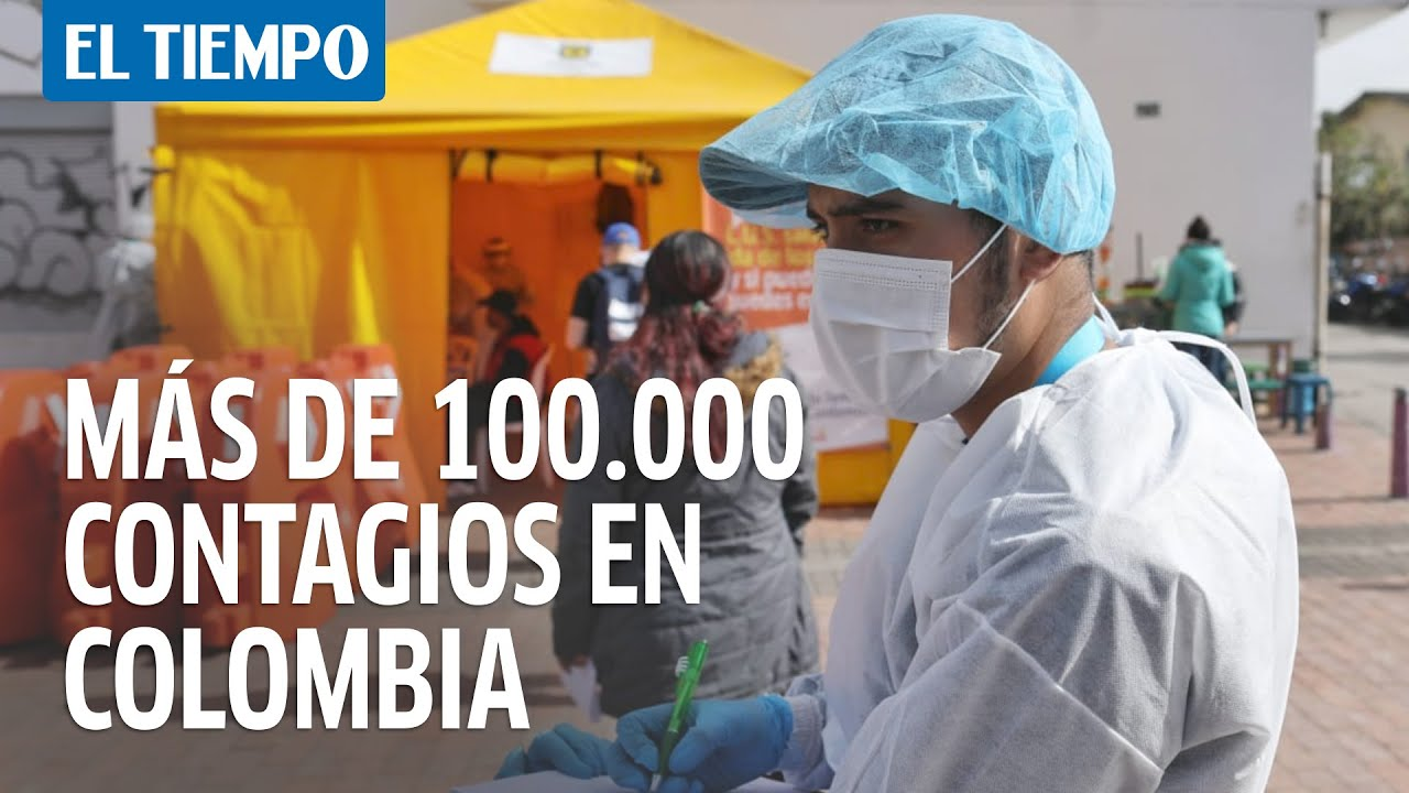 Coronavirus en Colombia: Se superó los 100 mil contagios por Covid-19