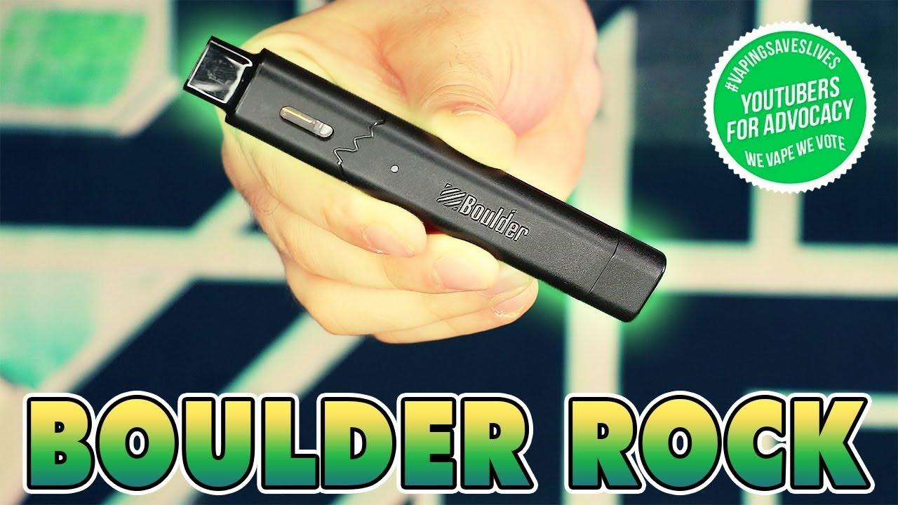 Boulder Rock Pod Vape Starter Kit - Refillable Pod Vaporizer w/ Free 1