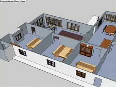 rumah kita (sketchup pro) - youtube