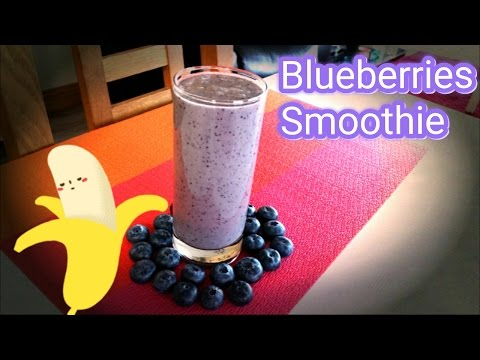 Blueberry, Banana Smothie For A Quick And Healthy Snack