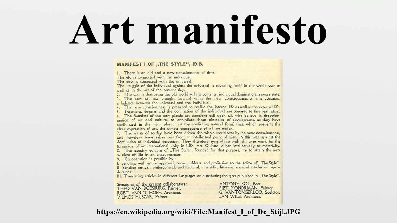 Manifesto Image: Art Manifesto