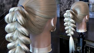 Braid tail - Elastic bands | Hairstyles by REM | © Lena Rogovaya