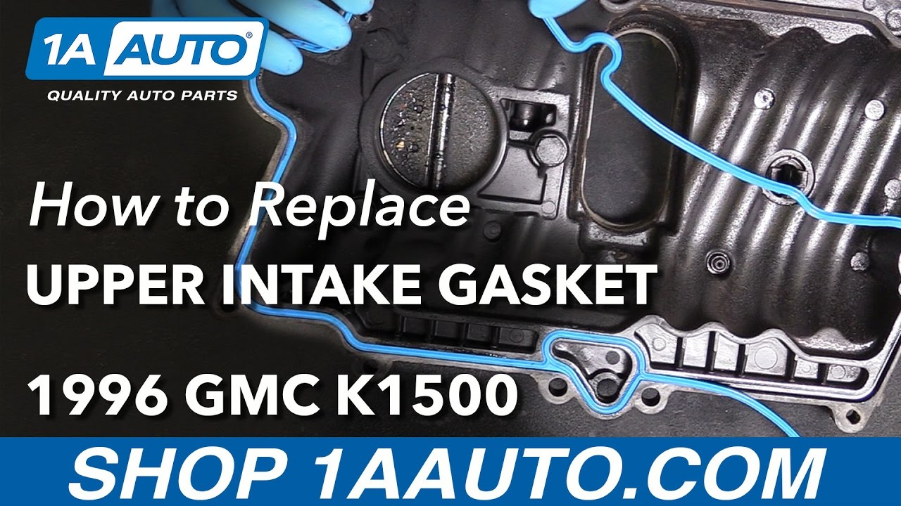 hight resolution of how to replace upper intake gasket 96 99 gmc k1500