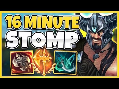 RANK 1 TRYNDAMERE HOW TO WIN IN 16 MINUTES (INSANE) - League of Legends