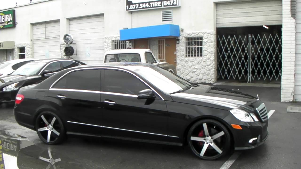 "877-544-8473 20"" Inch Ruff Racing R1 Machine Black 2012 Mercedes E-Class Rims Call us Today ..."