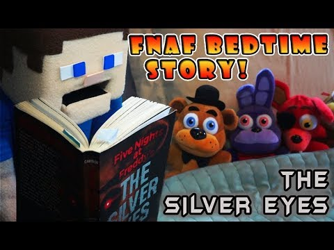 Five Nights at Freddy's The Silver Eyes Book FNAF (Bedtime Story) Plush Stop Motion Fun Puppet Steve