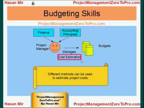 Project Management Pmp Budgeting Skills Youtube
