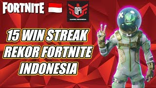 FORTNITE INDONESIA | REKOR WIN STREAK DI INDONESIA 15 | V BUCKS GIVEAWAY