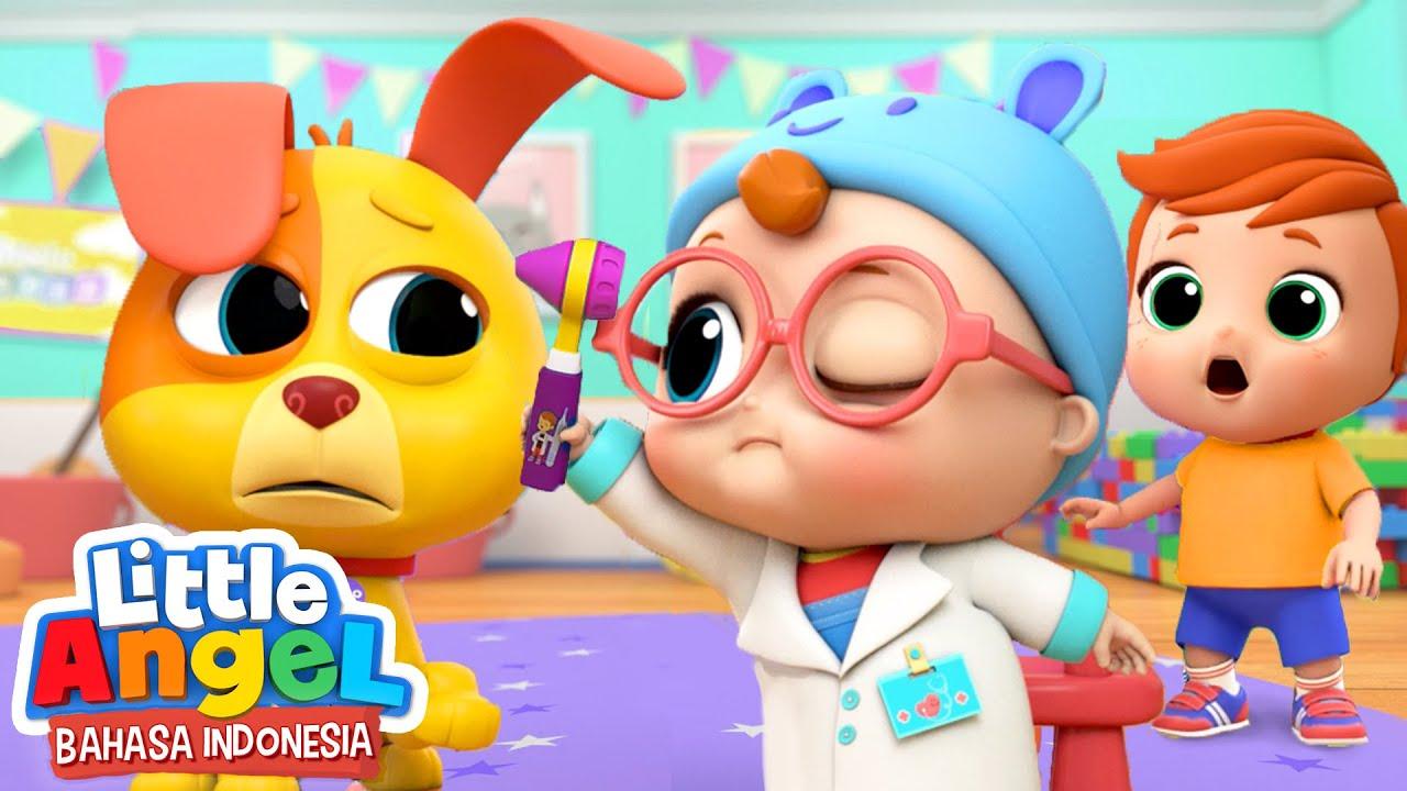Dokter Kecil Periksa Kesehatan Kartun Anak