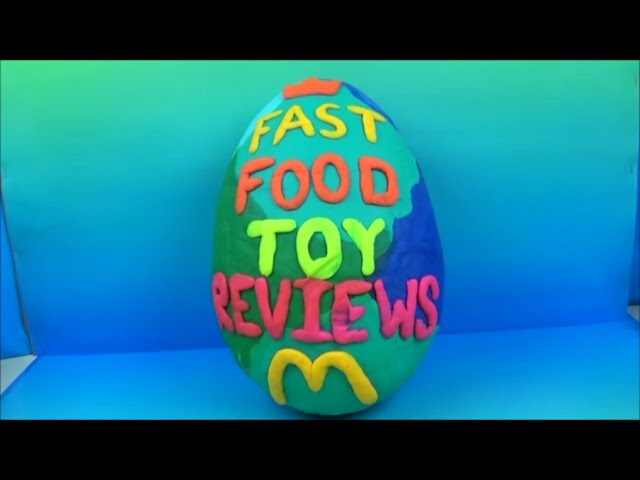 Giant Mcdonalds Play Doh Mystery Surprise Egg By Fast Food Toy Reviews
