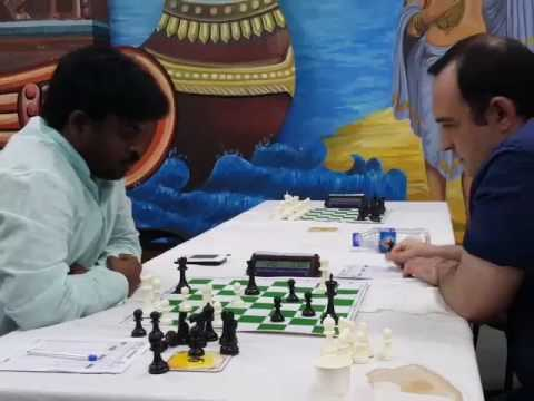 Amonatov beats Ravi Teja in a complex middlegame