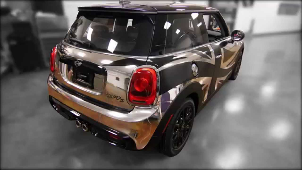 Mini Cooper Car Wrap With Chrome And Union Jack Youtube