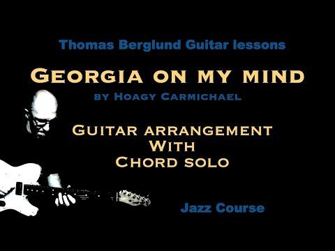 Georgia on my mind - Jazz guitar arrangement