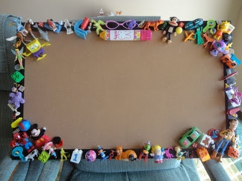 Diy Bulletin Cork Board Repurposing Small Toys Youtube